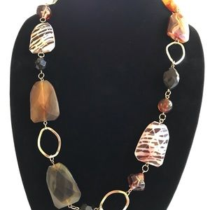 Jewelry - Long hanging stone necklace